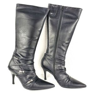 Andrea Coleccion Black High Heel Pointed Toe Boots